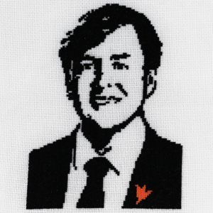 Portrait King Willem-Alexander embroidery kit