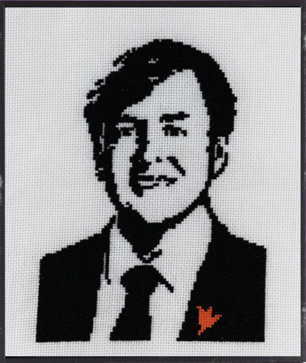 portrait king willemalexander embroidery kit