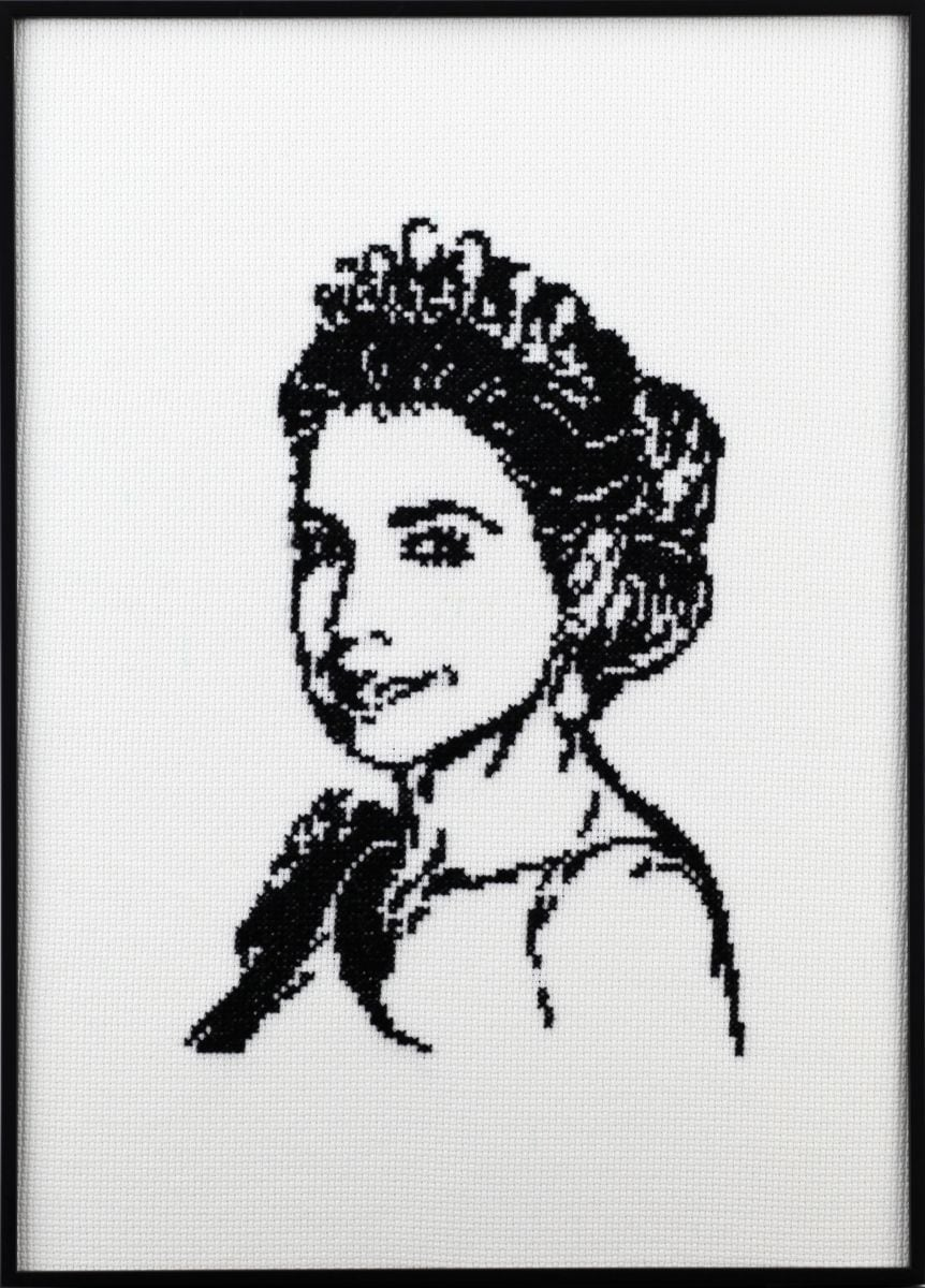 portrait of queen mxima embrodery kit