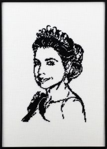 Portrait of Queen Máxima, embrodery kit