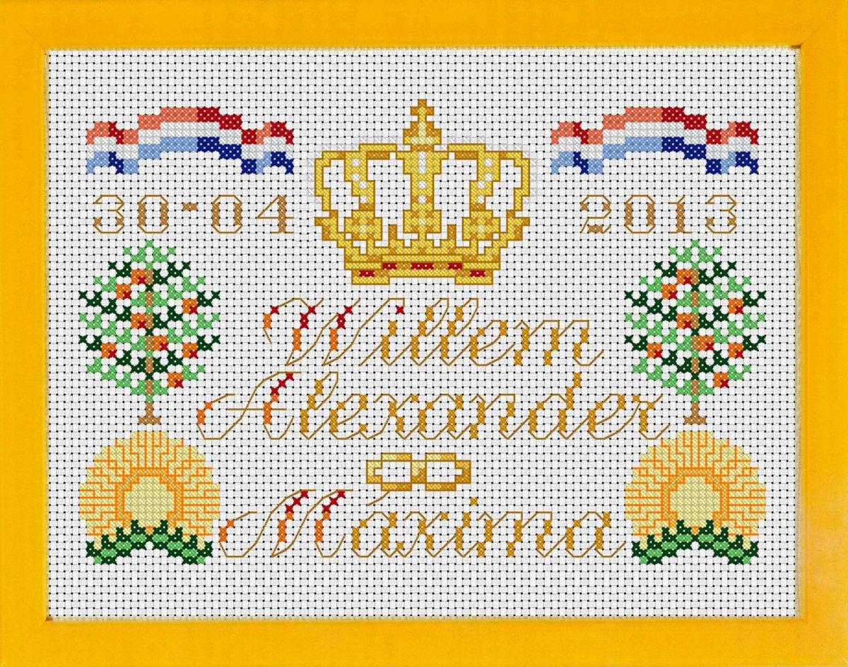 tegel kroning willemalexander en maxima