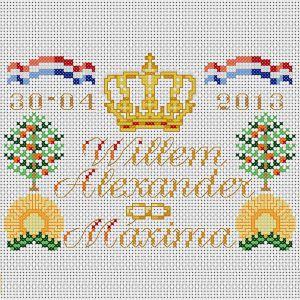 Tegel kroning Koning Willem-Alexander en Koningin Maxima 2013, inclusief verzendkosten!